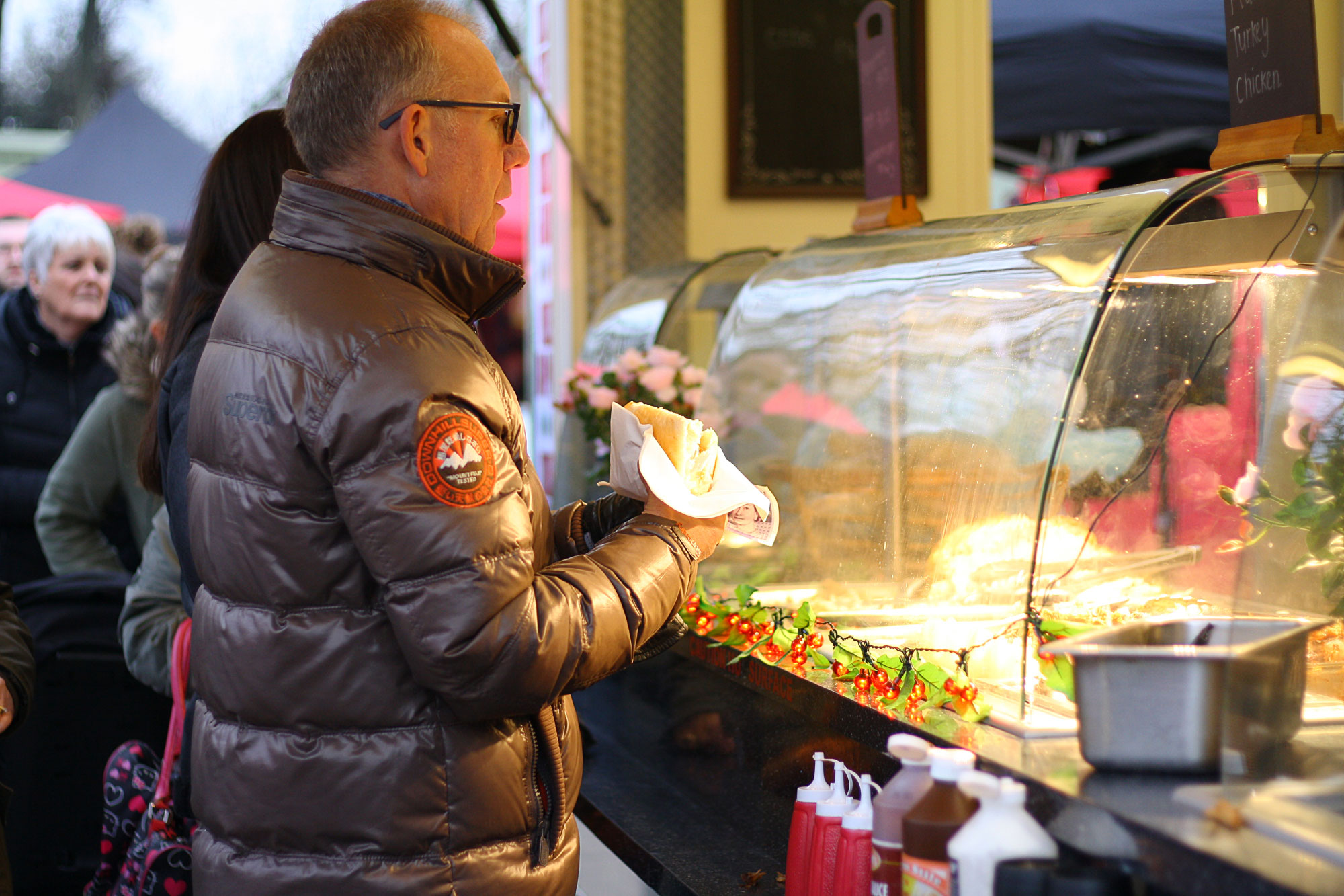RSPCA Woodside Christmas Market food stand